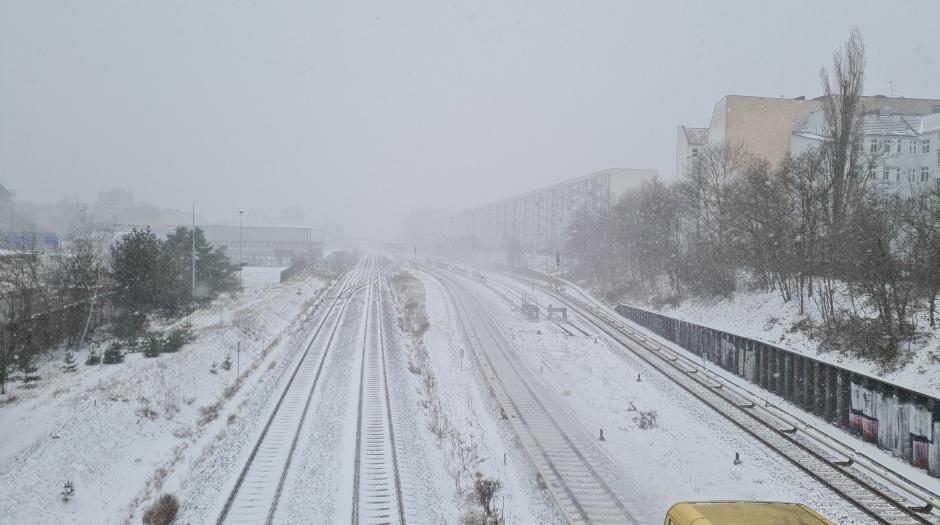 Südkreuz Berlin Schnee